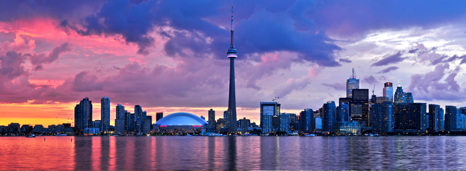 Toronto Skyline Sunset